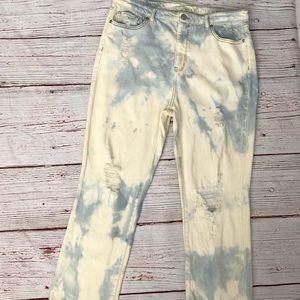 Wild Fable distressed, tie dye jeans w/ raw hem